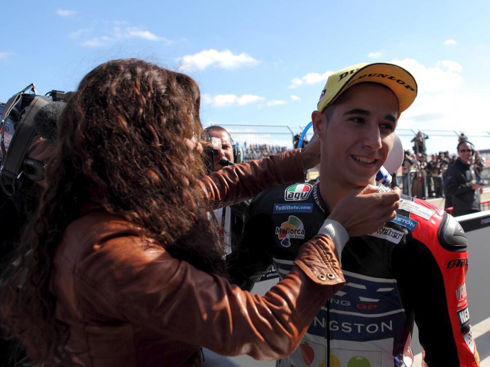 Luis Salom, el día de su triunfo en Motorland en 2012.