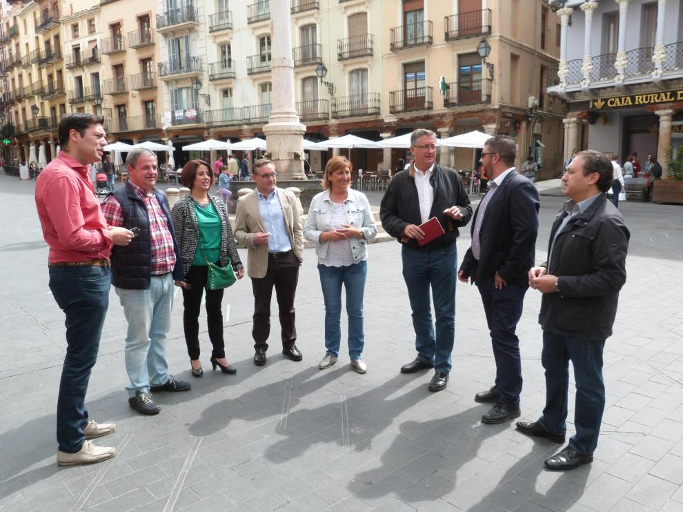 Imagen de los candidatos del PP por Teruel a las elecciones del 26-J.