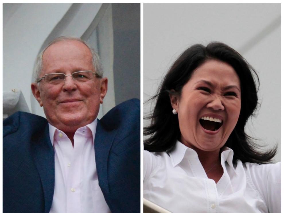 Pedro Pablo Kuczynski y Keiko Fujimori.
