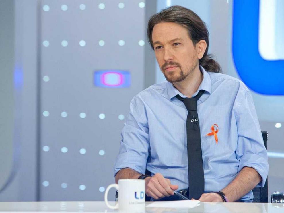 Pablo Iglesias durante una entrevista en TVE.
