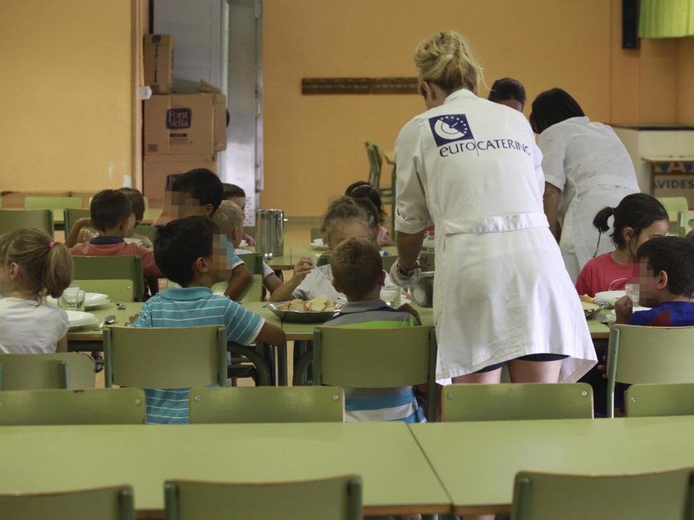 Comedor escolar en Huesca.