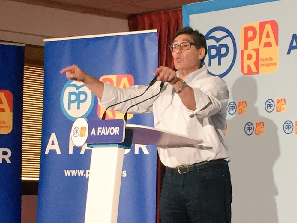 El presidente del Partido Aragonés, Arturo Aliaga, en una imagen de archivo.