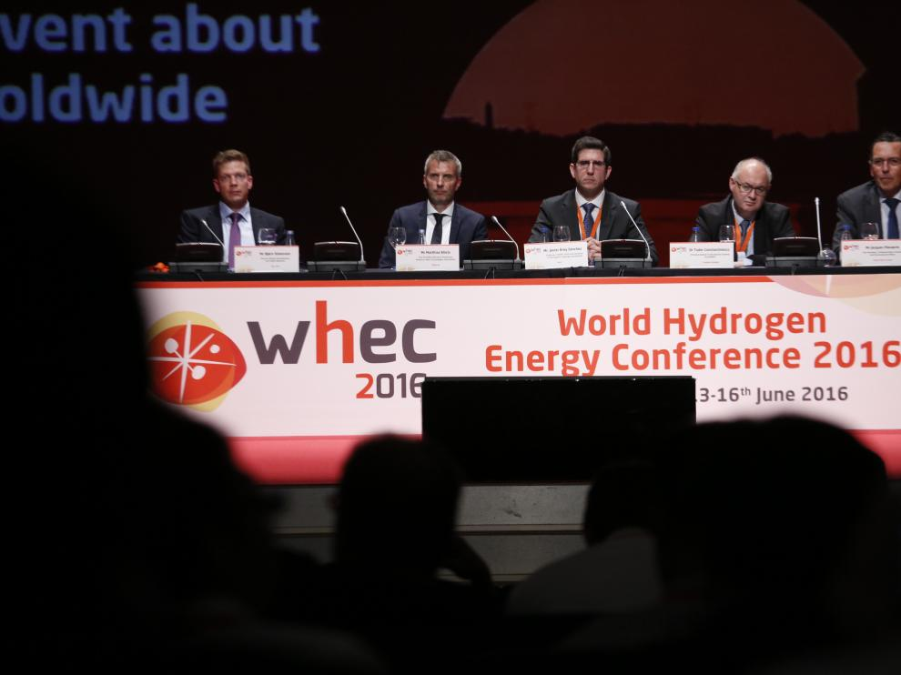 Una imagen del XXI Congreso Mundial del Hidrógeno, que se inauguró este lunes en Zaragoza.