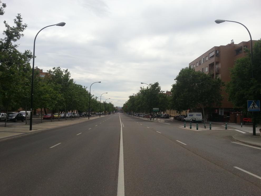 Tramo de la avenida de Cataluña.