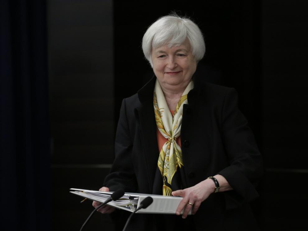 Janet Yellen, presidenta de le Reserva Federal de EE. UU.