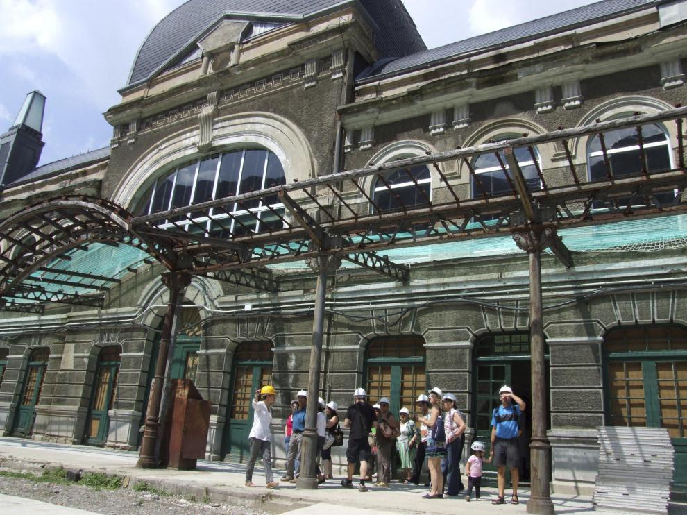 Visitas guiadas, en la estación de Canfranc, imagen de archivo.