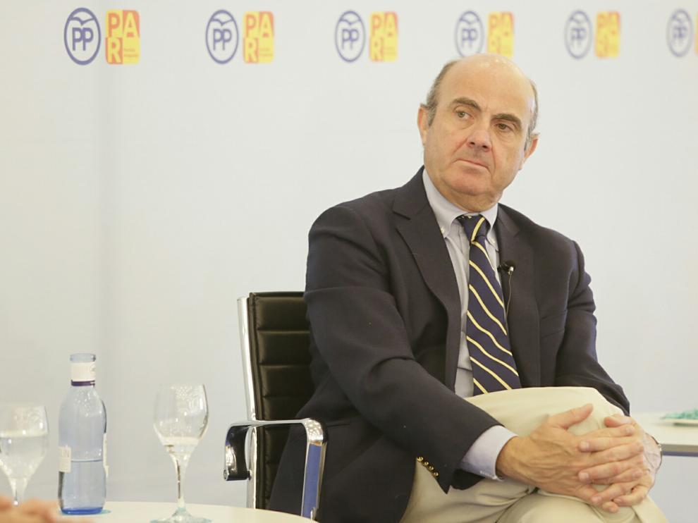 Acto de Luis de Guindos en Zaragoza