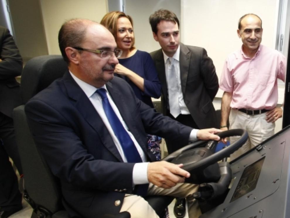 El Presidente de Aragón ha visitado el Centro de Innovación para la FP de Aragón y se ha reunido con el Clúster de la Automoción.