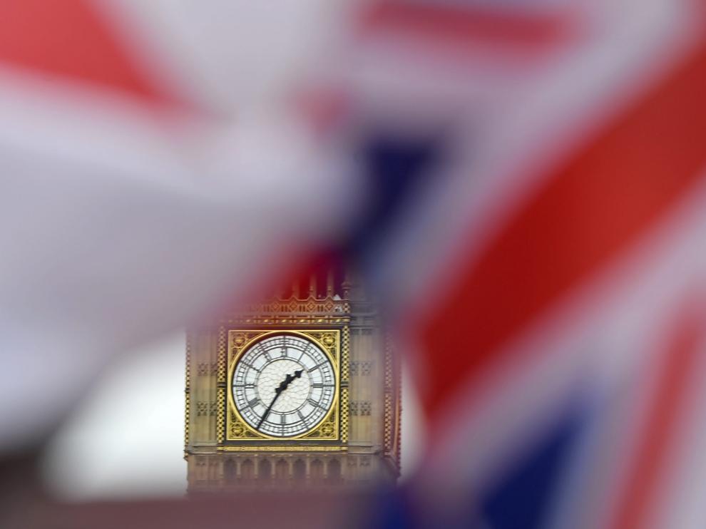 Banderas británicas en Londres