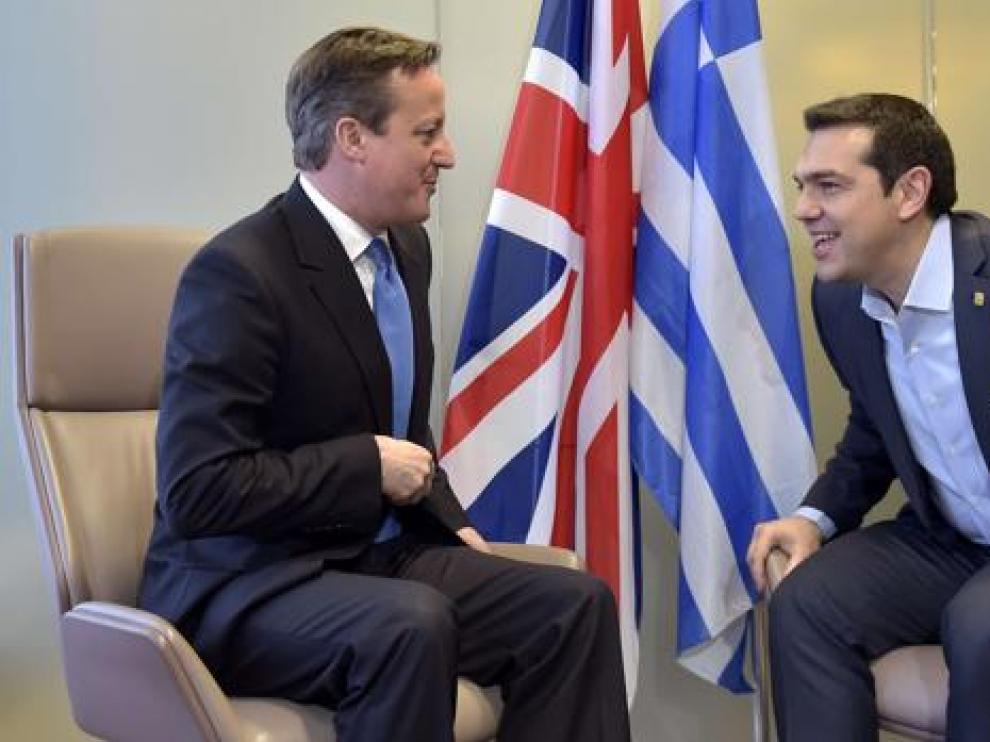 Cameron con Tsipras en 2015.