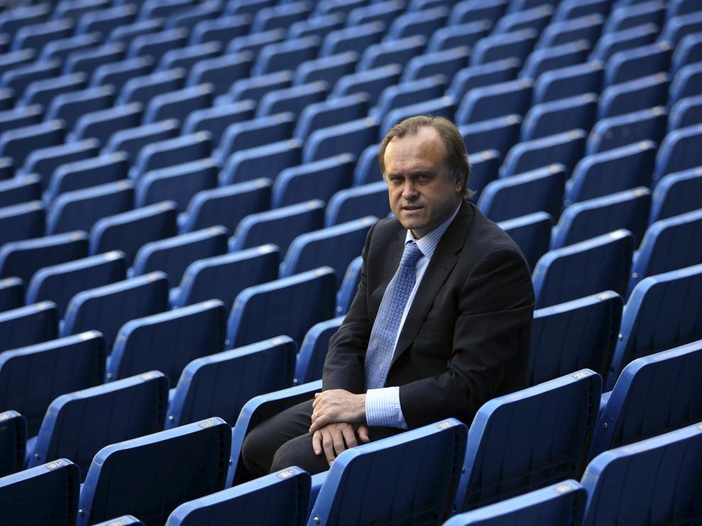 Miguel Pardeza, durante su etapa como director deportivo del Real Madrid