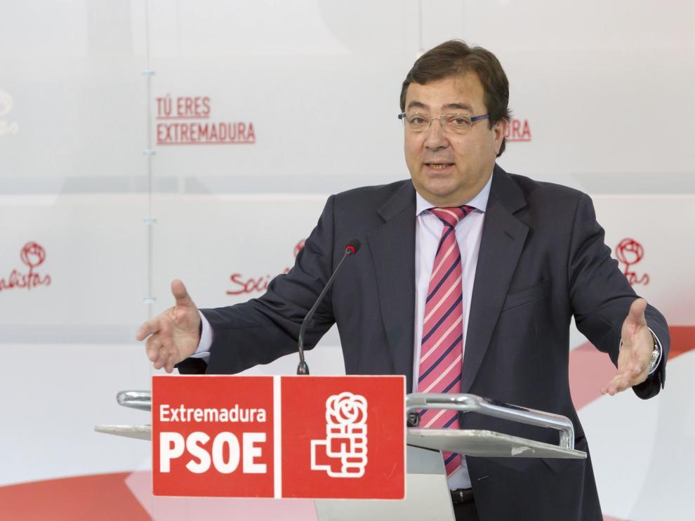 El presidente de la Junta de Extremadura y secretario general del PSOE regional, Guillermo Fernández Vara.