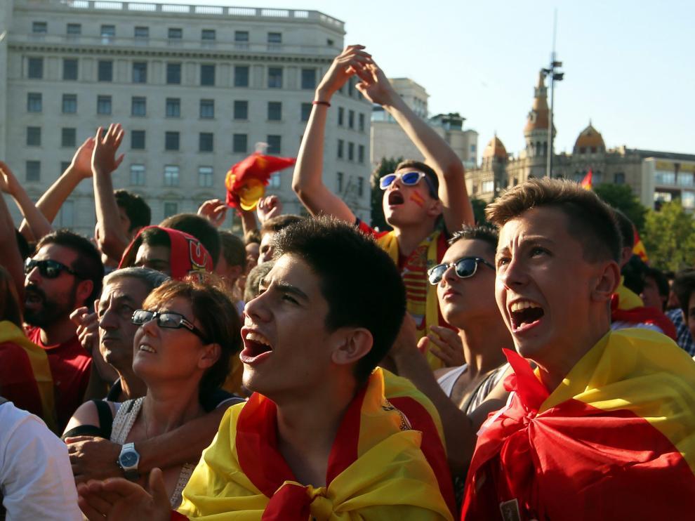 La afición española.