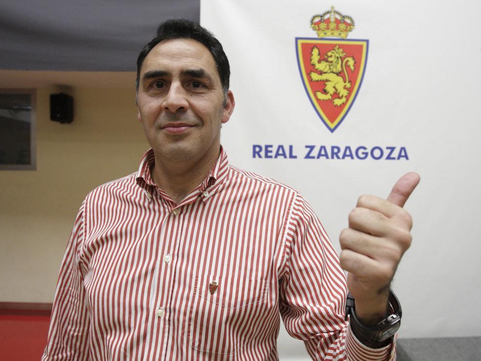 J. Vicente Casanova, presidente de la Federación de Peñas del Real Zaragoza.