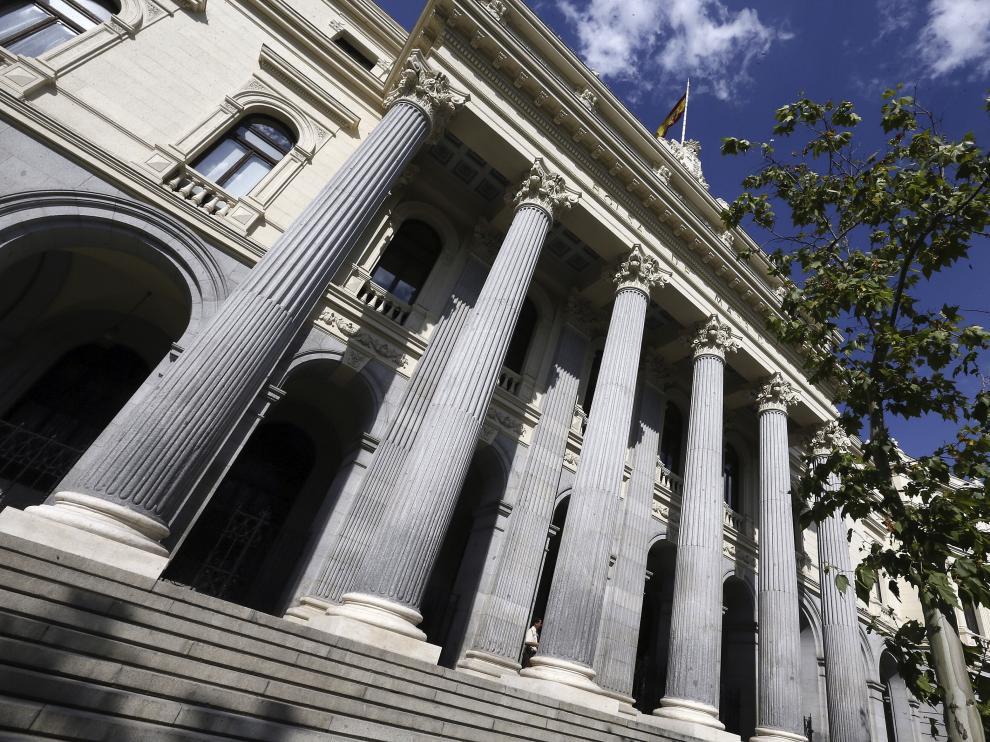 Exterior del Palacio de la Bolsa de Madrid donde el IBEX 35