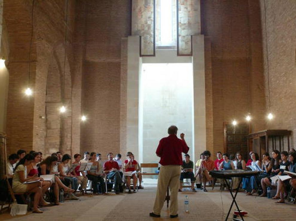 Imagen de un concierto del Festival de Música Antigua de Daroca.