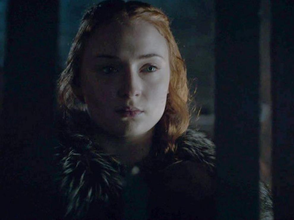 Sophie Turner, Sansa Stark en un capítulo de 'Juego de Tronos'