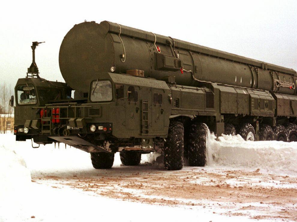 Un misil intercontinental ruso.