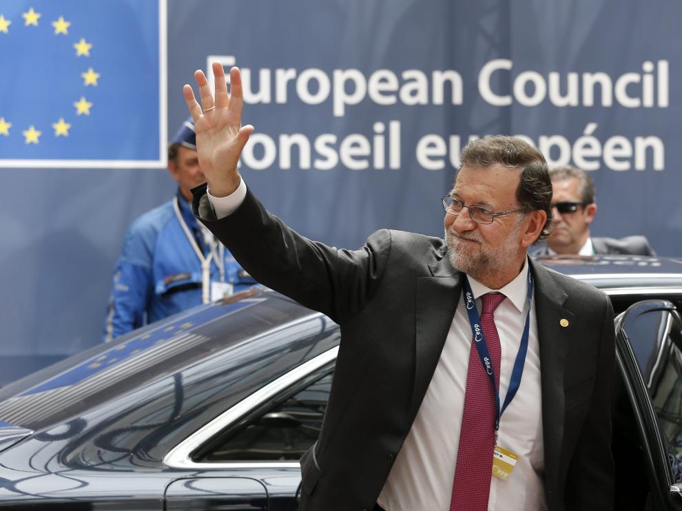 Mariano Rajoy, a su llegada este martes a la cumbre de la UE.