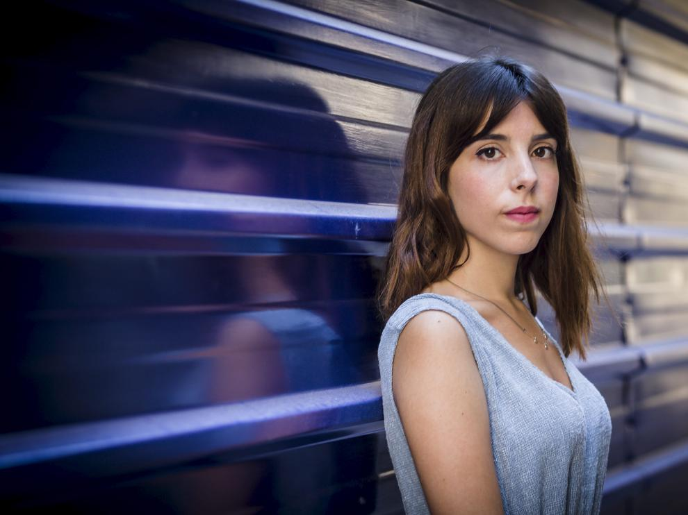 Marta Lallana García, en Zaragoza este lunes.