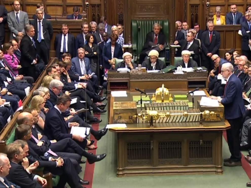 Careo en el Parlamento británico este miércoles.