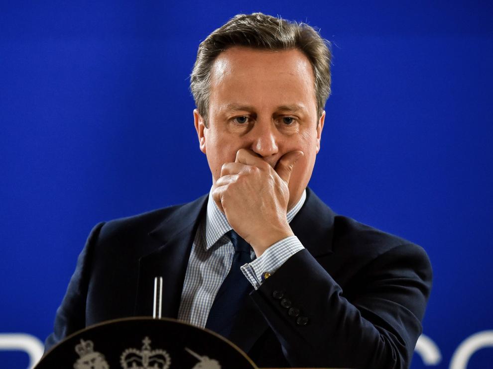 David Cameron, este martes en Bruselas.