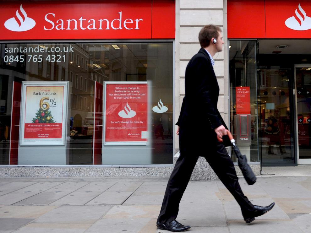Una oficina del banco Santander.