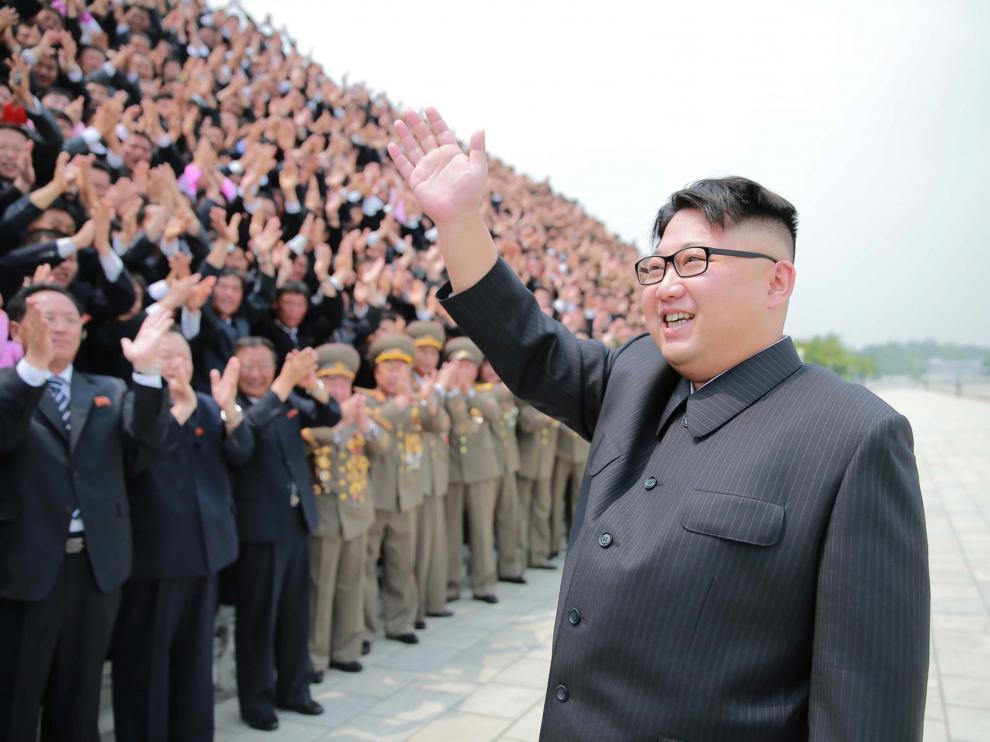 Kim Jong-un, durante un acto público.