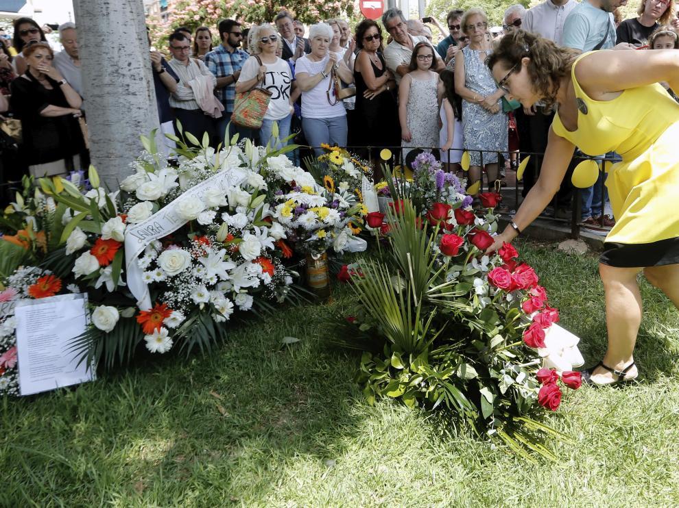 Imagen del décimo aniversario del accidente del metro de Valencia.
