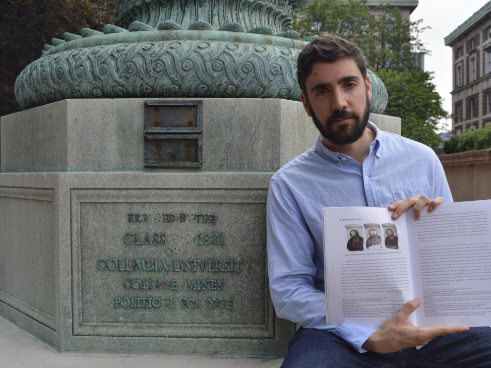 Alberto Sánchez Sánchez, en la Universidad de Columbia