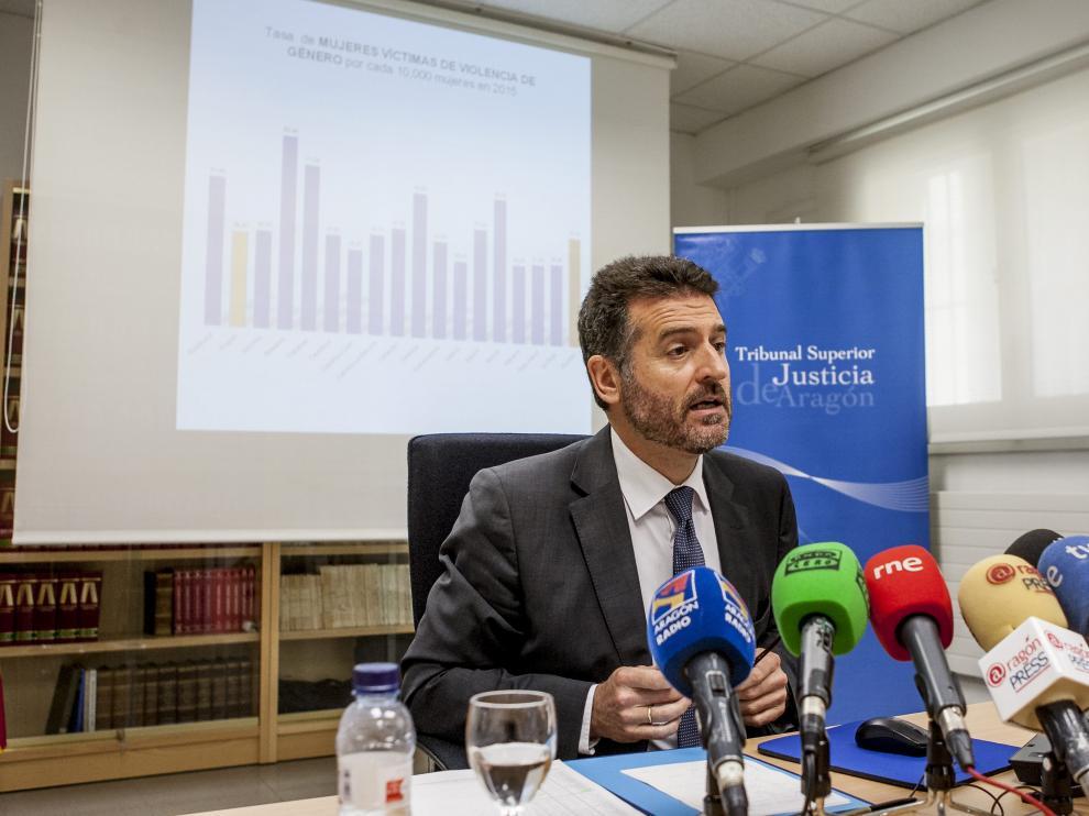 Manuel Bellido, presidente del Tribunal Superior de Justicia de Aragón (TSJA).