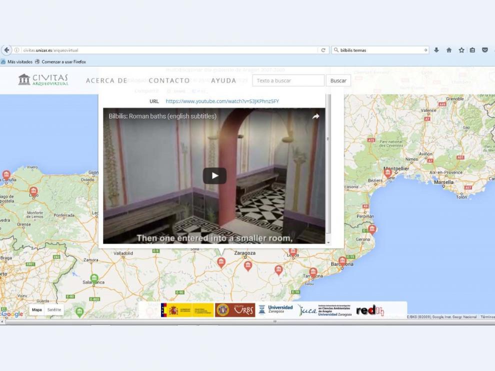 El proyecto Civitas trata de catalogar y geoposicionar la arqueología virtual romana.