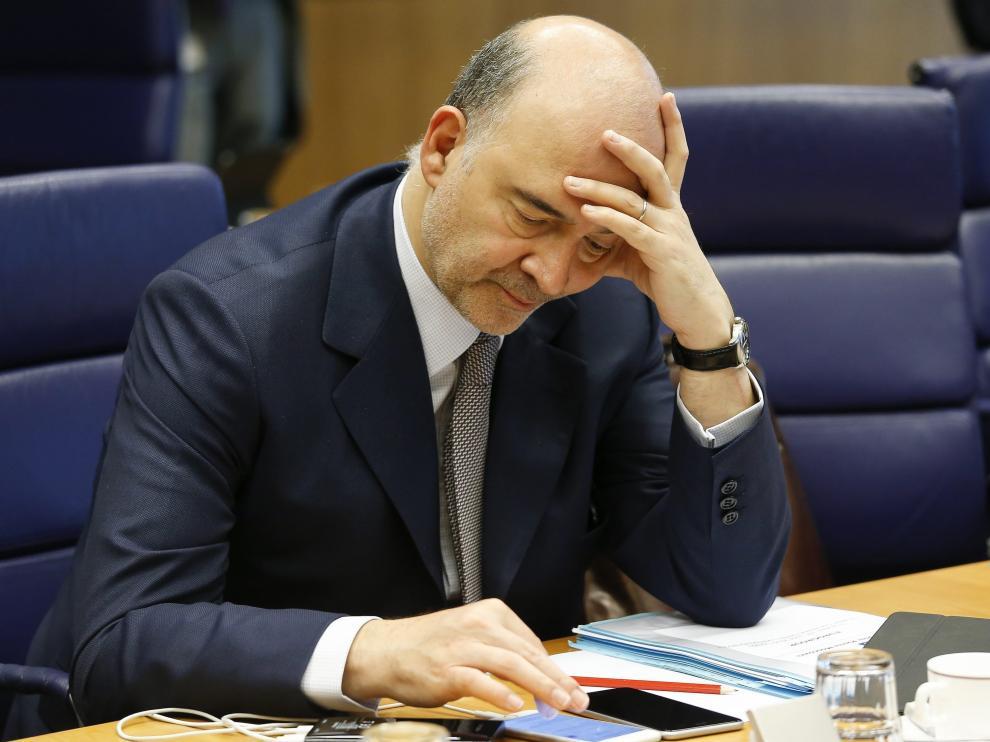El comisario de Asuntos económicos y financieros, Pierre Moscovici, en junio en Luxemburgo.