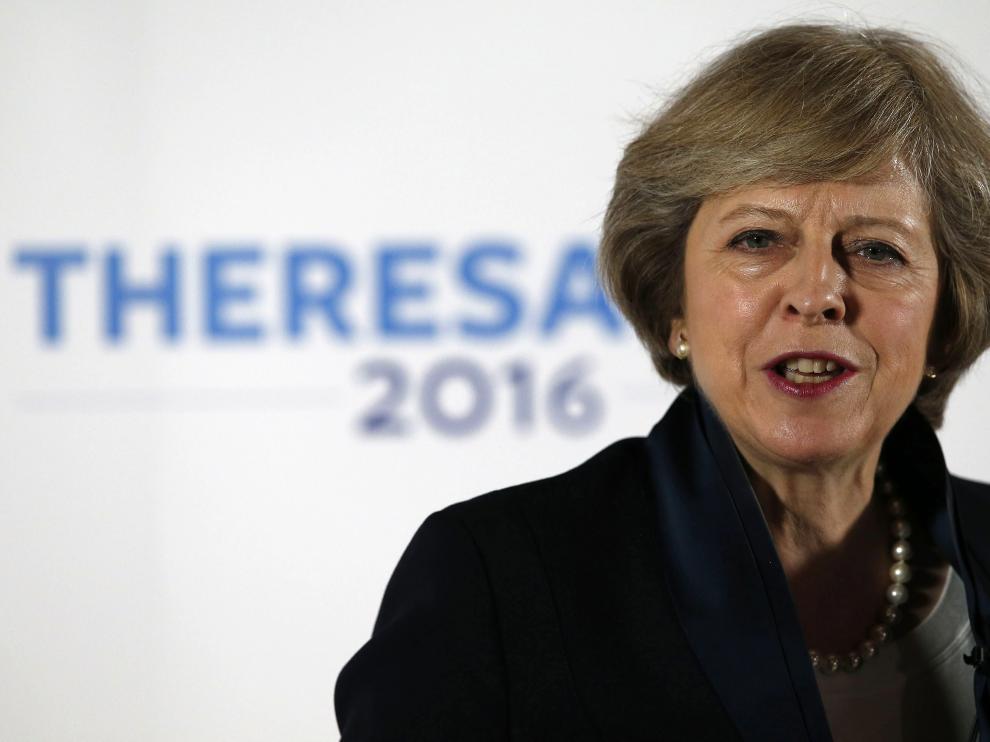 La ministra británica de Interior, Theresa May.
