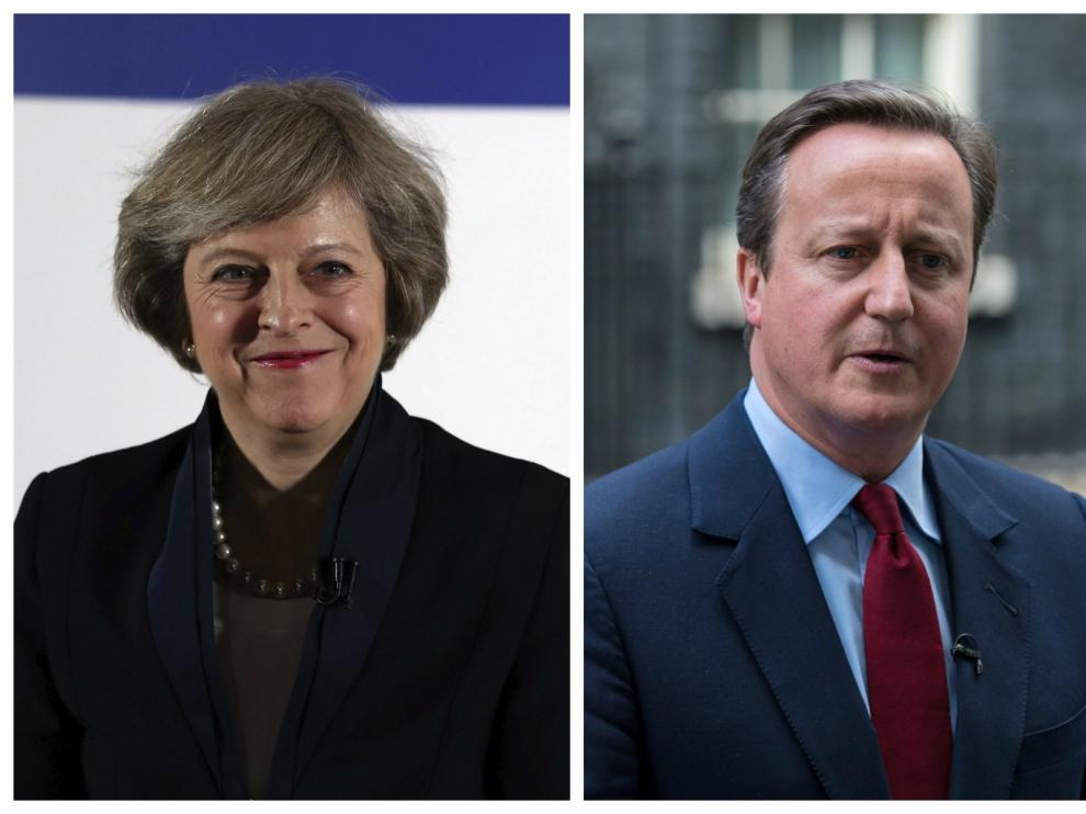 Theresa May y David Cameron