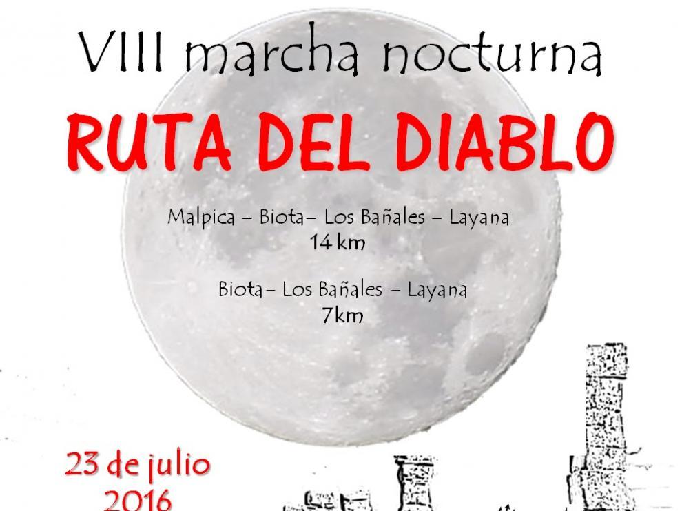 Cartel de la marcha nocturna 'Ruta del Diablo'.
