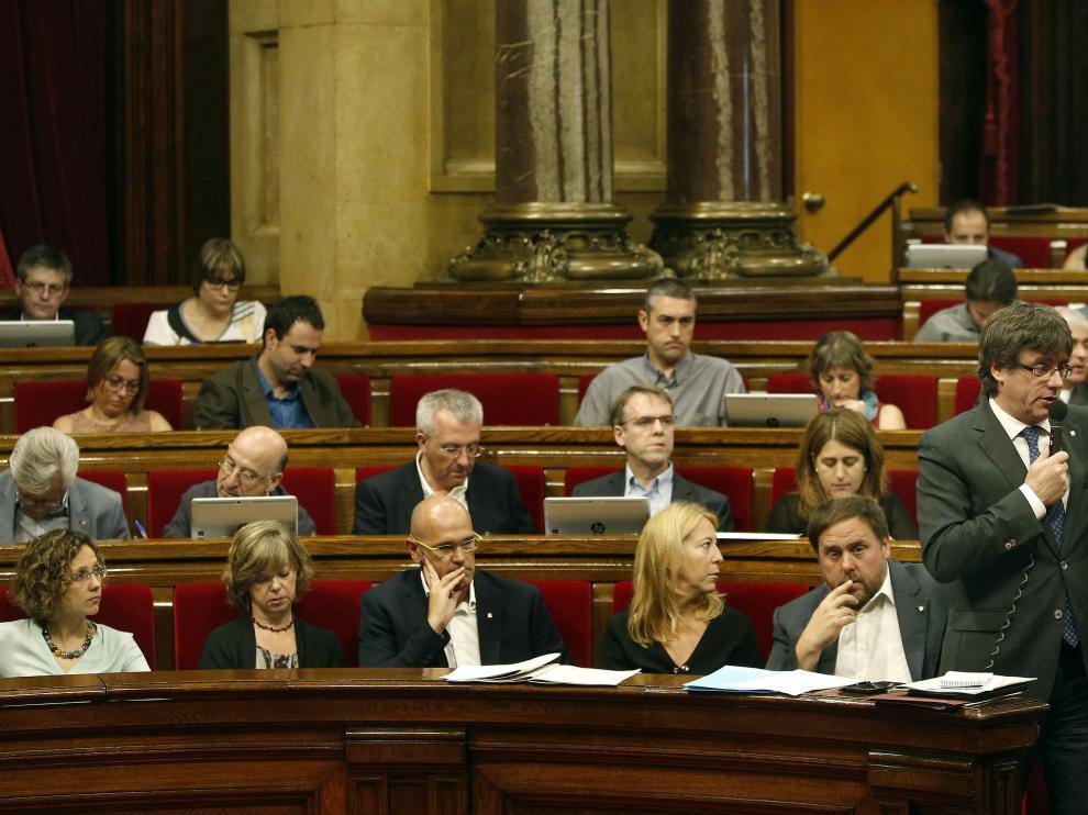 Sesión de control del Parlamento catalán