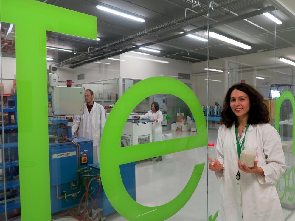 Lidia García, en las instalaciones de Tecnopackaging