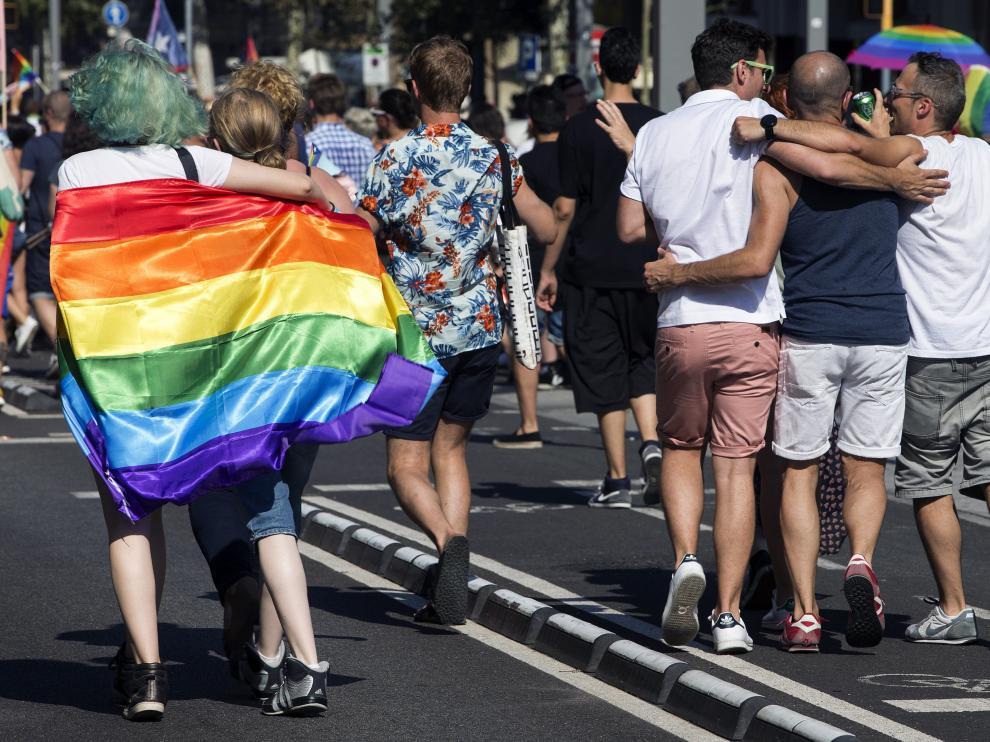 Celebración del día del Orgullo Gay.