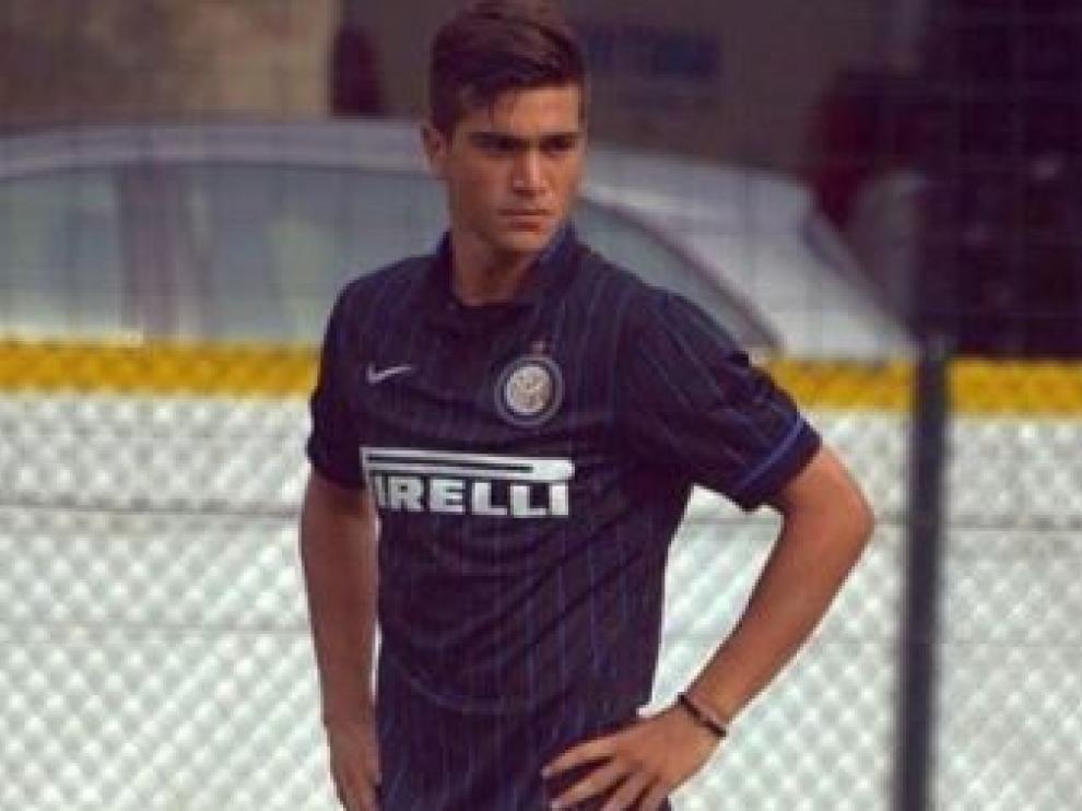 Razvan Popa, con el Inter de Milán Primavera.