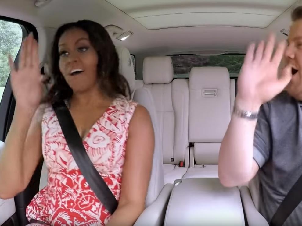 Michelle Obama, de karaoke en el 'Carpool karaoke'.