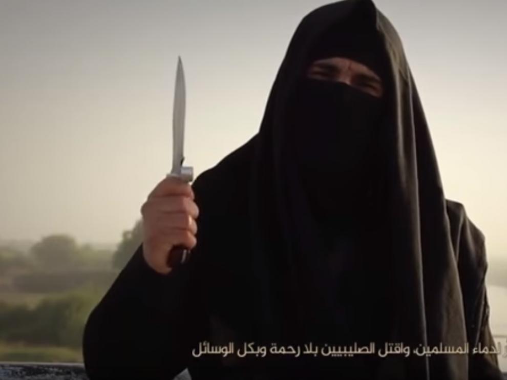 El hombre que aparece en un nuevo vídeo de Estado Islámico contra Francia.