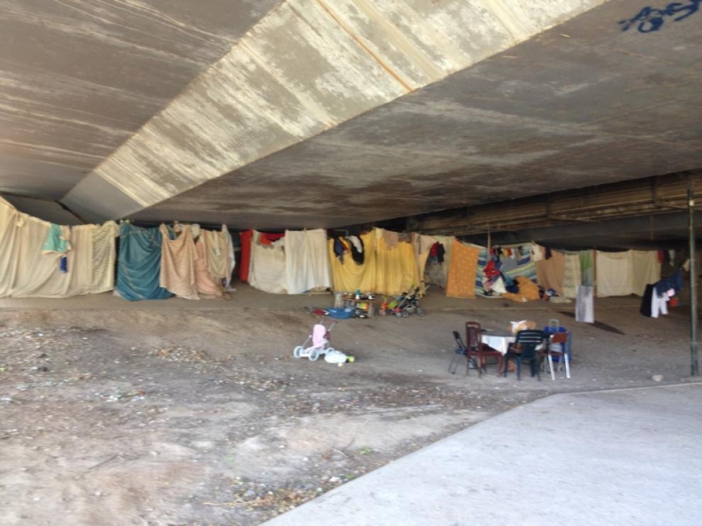 Aspecto del asentamiento antes de la intervención municipal