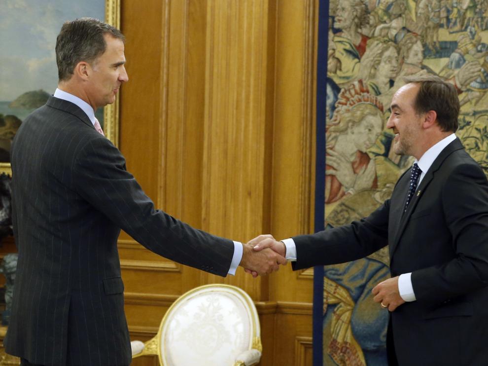 Javier Esparza y el rey Felipe VI