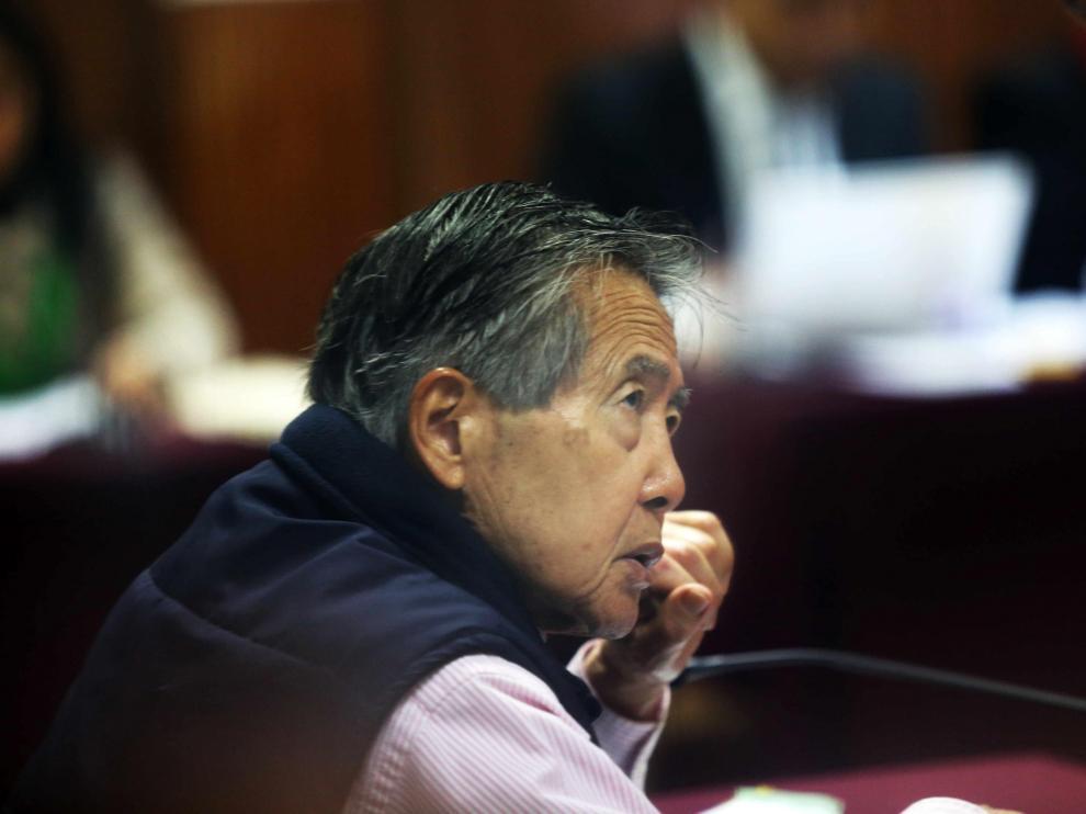 Foto archivo de Fujimori durante una audiencia