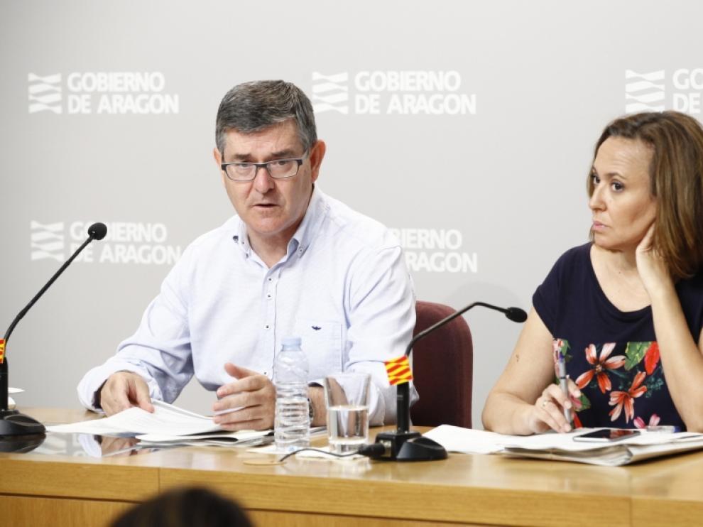 Vicente Guillén y Mayte Pérez en una imagen de este martes.