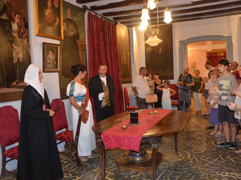 Un momento de la visita al Palacio durante el pasado verano.