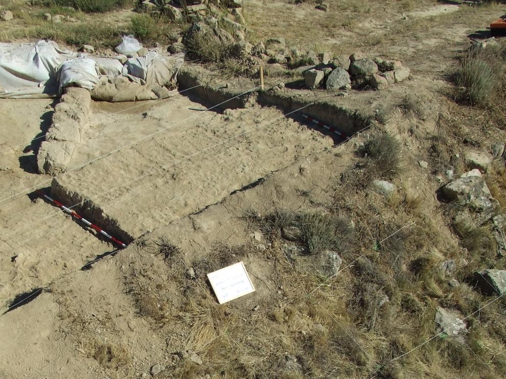 Imagen de archivo de las excavaciones en Marcuello.