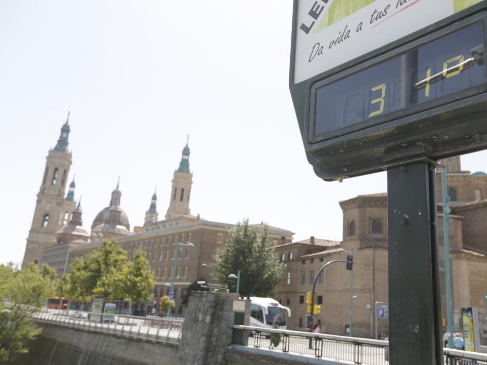 Calor en Zaragoza.