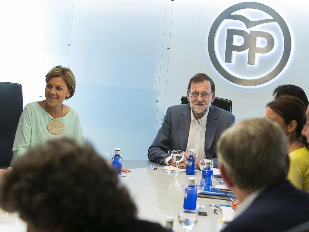 El comité de dirección del PP reunido esta semana en Madrid.
